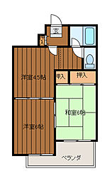 メゾン文京[2階]の間取り