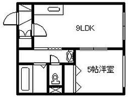 新築 マリオット6条[1102号室]の間取り