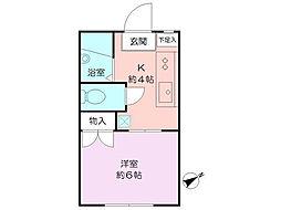 旭区二俣川 ハイツサンクリードB棟 202号室[2階]の間取り