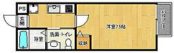 京都府京都市上京区下竪町の賃貸マンションの間取り