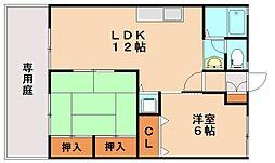 セジュールリカー[1階]の間取り