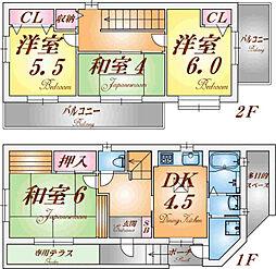 [一戸建] 兵庫県神戸市北区西大池1丁目 の賃貸【/】の間取り