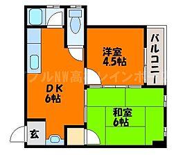 香川県高松市栗林町2丁目の賃貸マンションの間取り