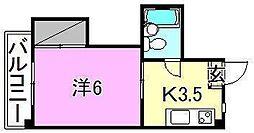 メゾン湯渡[202 号室号室]の間取り