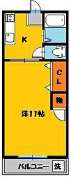 ニュー双葉マンション2号棟[1階]の間取り