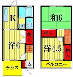[テラスハウス] 埼玉県越谷市東大沢1丁目 の賃貸【/】の間取り