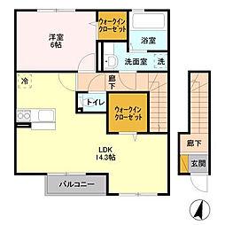 green roof[202号室]の間取り