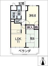 CREST1[1階]の間取り