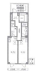 東京メトロ銀座線 末広町駅 徒歩3分の賃貸マンション 5階ワンルームの間取り