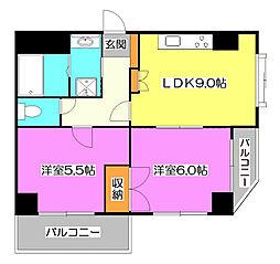 サンフラワー清瀬壱番館[5階]の間取り