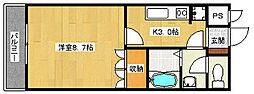 広島県広島市安佐南区祇園8丁目の賃貸マンションの間取り