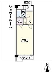 ライオンズマンション名大ウエスト402号[4階]の間取り