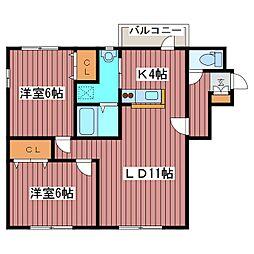 NY−FLAT[2階]の間取り