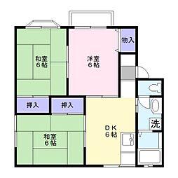 高野ハイツB[1階]の間取り