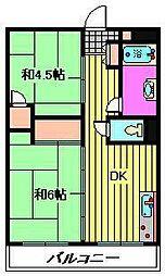 ビレッジハウス柳崎タワー[517号室]の間取り