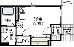 (正式)リュエル(仮称)エルメゾン東川島町[102号室号室]の間取り
