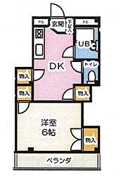 東京都豊島区南長崎6丁目の賃貸マンションの間取り