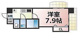 Osaka Metro千日前線 今里駅 徒歩3分の賃貸マンション 9階1Kの間取り
