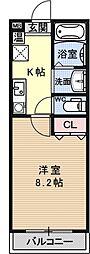 Largo讃州寺[303号室号室]の間取り