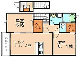 ハイアット・スペース[2階]の間取り