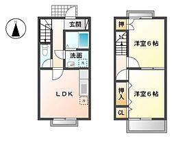 デュープ竹田A[1階]の間取り