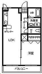 (賃)ピュアハイツ杜。[402号室]の間取り