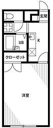 神奈川県藤沢市亀井野3の賃貸アパートの間取り