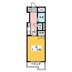 ラ・ネージュII[2階]の間取り
