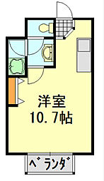 千葉県千葉市中央区今井町の賃貸アパートの間取り