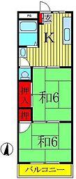 三貴ハウス[306号室]の間取り