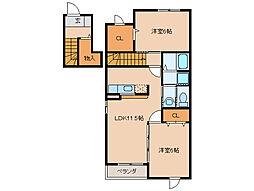 エリュシオンA・B棟[2階]の間取り