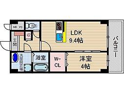フローリッシュ茨木[3階]の間取り