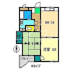 ガーデンハイツ永野[3階]の間取り