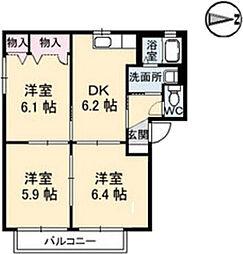 シャーメゾンさわら[1階]の間取り
