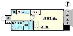 エステムコート難波サウスプレイスVエレタージュ[4階]の間取り