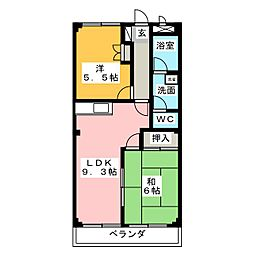 サニプレイス遊[1階]の間取り