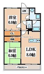 エタージュ高井田[2階]の間取り