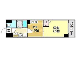 プリモスタジオ[2O3号室号室]の間取り