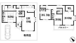 [一戸建] 兵庫県川西市けやき坂3丁目 の賃貸【/】の間取り