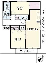 ラ・グラシューズVI[2階]の間取り
