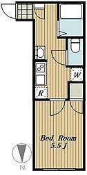 練馬区高松4丁目計画 2階1Kの間取り