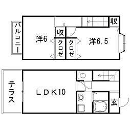 [テラスハウス] 静岡県浜松市東区半田山4丁目 の賃貸【/】の間取り