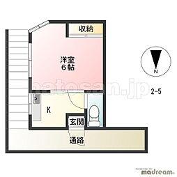 第2若葉荘[5号室号室]の間取り