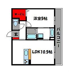 プリマベル[2階]の間取り