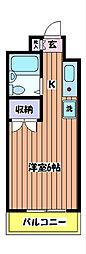 メゾンSEIWA[203号室]の間取り