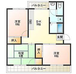 ハイツ中吉野[2階]の間取り