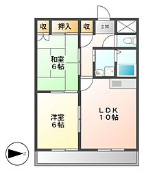 リバーサイド前田[2階]の間取り