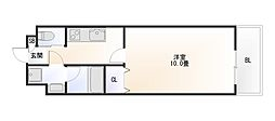 Osaka Metro堺筋線 恵美須町駅 徒歩4分の賃貸マンション 4階1Kの間取り