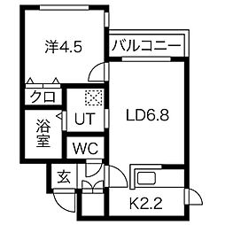 BELL WARK2[2階]の間取り