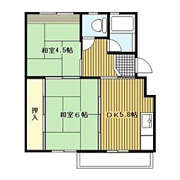 大和大塚戸[4-442号室]の間取り